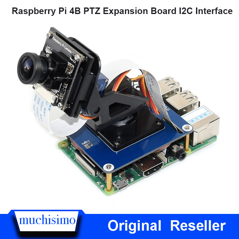 Raspberry Pi 4B PTZ Expansion Board I2C Interface Two Degrees Of Freedom PTZ PCA9685 For Raspberry Pi 3B Pi 3B+ Pi Zero / Zero W