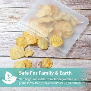 Утолщенные контейнеры для хранения еды PEVA многоразовые силиконовые свежие мешки влагостойкие холодильник запечатанный мешок Ziplock кухня организовать