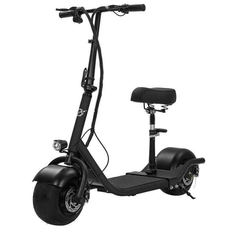 חשמלי קטנוע אופני שני גלגלי קורקינט חשמלי 36V 350W אופנוע נייד חכם חשמלי Citycoco קטנוע עם מושב