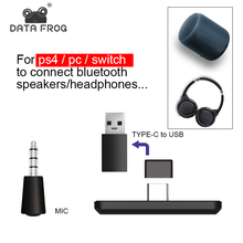 Data Frog USB/Type C Mobile Bluetooth Adapter for Nintendo Switch Audio mike Bluetooth Receiver for PS4 Console/PC Converter