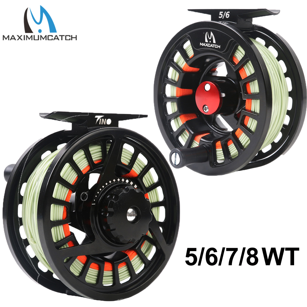Backing,Leader Maxcatch 3//4 5//6 7//8wt Pre-Loaded Fly Fishing Reel with Fly Line