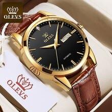 Olevs мужские часы класса люкс механические кожа Классические