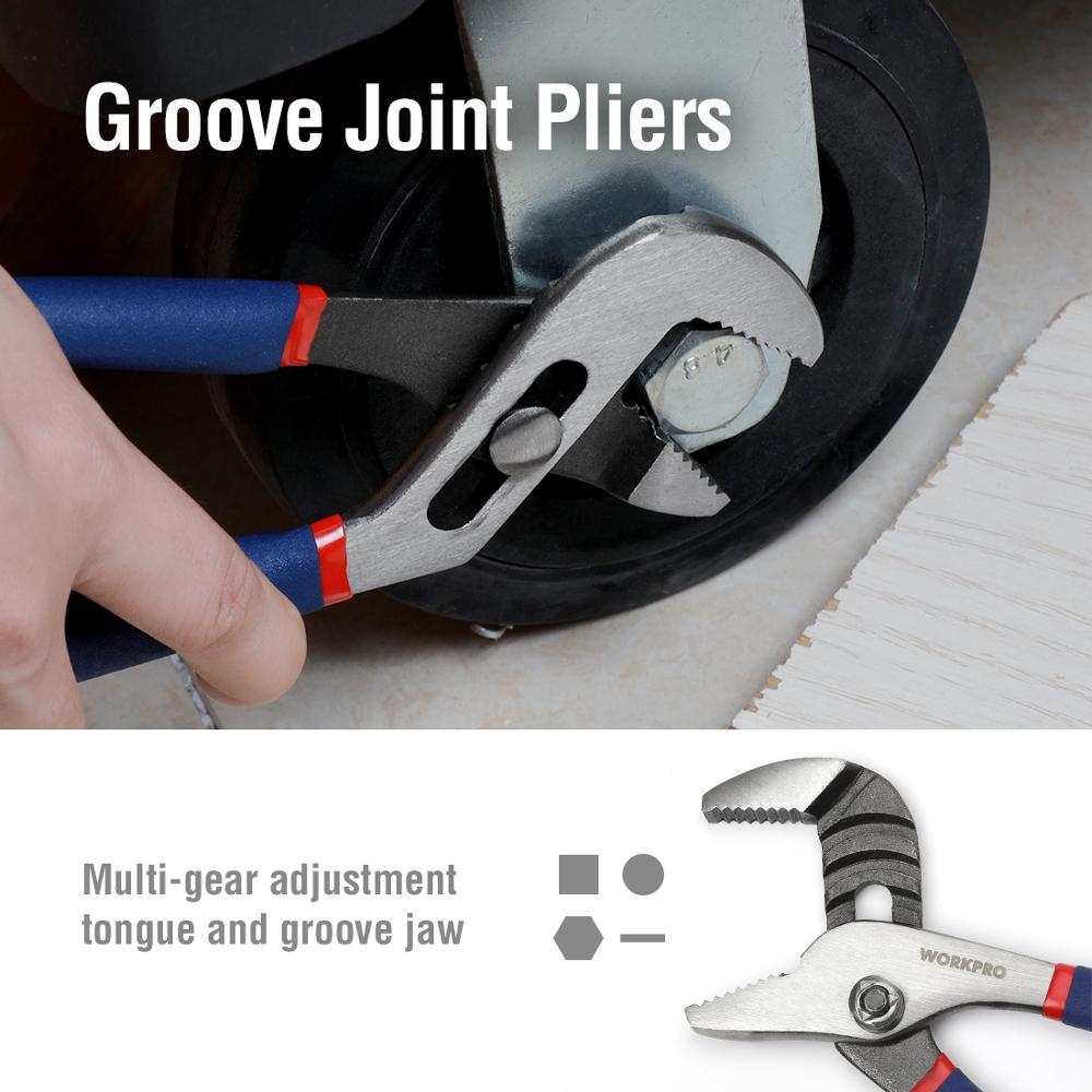 Image 4 - WORKPRO 7PC Electrician Pliers Wire Cable Cutter Plier Set Plumbing Plier Long Nose Pliercutter plierslong nose plierselectrician pliers -