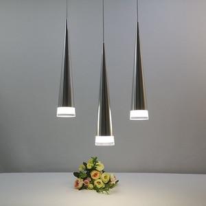 Image 2 - الحديثة led مخروطي قلادة ضوء الألومنيوم معدن المنزل الإضاءة الصناعية مصباح معلق الطعام غرفة المعيشة مقهى droتحكم تركيبات