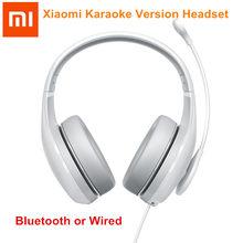 Xiaomi versão karaoke bluetooth fone de ouvido sem fio com fio fones microfone alta sensibilidade mudança voz fones para k canção