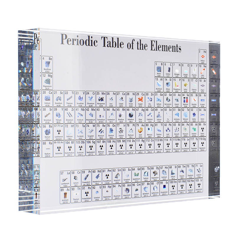 1pc Acrylic Periodic Table Of The Elements Stickers Chart Elements Framed Display For Students Teachers Gift Desk Decoration