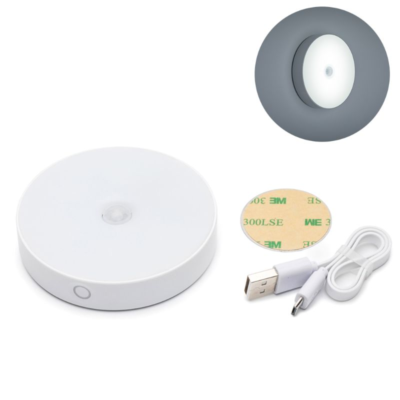 6 LED Infrared PIR Motion Sensor Human Body Induction Lamp  Built-in Lithium Battery Charging Night Light Soft Eye Protection Se
