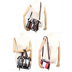 Image 3 - Gradosoo patrón de cuadros bolsos 4 juegos de cuero de las mujeres bolso mujer de hombro bolso de las mujeres bolso de LBF651