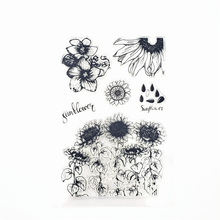 JCarter Rubber Clear Stamps for Scrapbooking Sunflower Field 2019 Silicone Seals Craft Stencil Album Card Make Decoration Sheet
