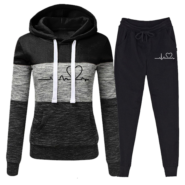 Casual Tracksuit Women Two Piece Set Suit Female Hoodies and Pants Outfits 2020 Women's Clothing Autumn Winter Sweatshirts New