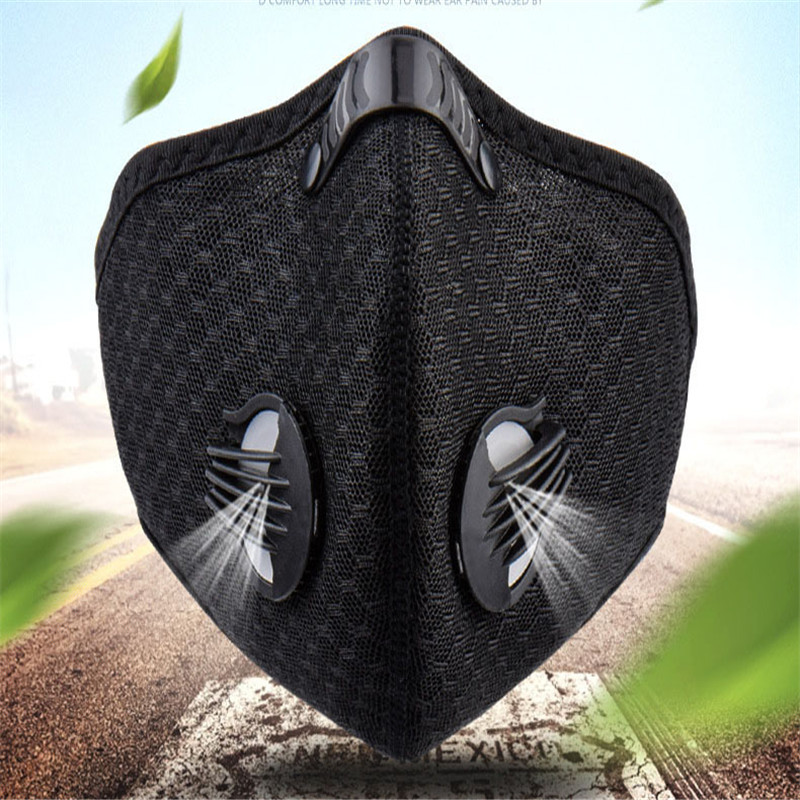 Cycling Masks Anti Virus PM2.5 Mask With Filter Half Face Carbon Mountain Bicycle Sport Road Cycling Masks Face Cover