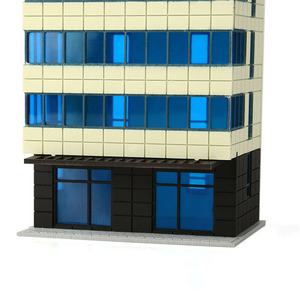 Image 5 - N Scale Outland Models Colored Modern City White Building Grand Apartment