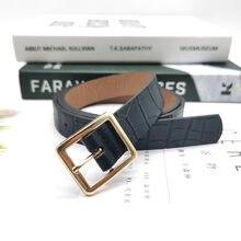 1 pièces 110 CM mode femmes décontracté en cuir mince taille ceinture en cuir ceinture avec boucle ardillon noir