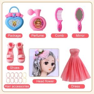 Image 5 - UCanaan BJD bebek 1/4 SD bebekler 18 inç 18 top eklemli bebek giysileri kıyafet ayakkabı peruk saç makyaj en iyi kızlar için hediye