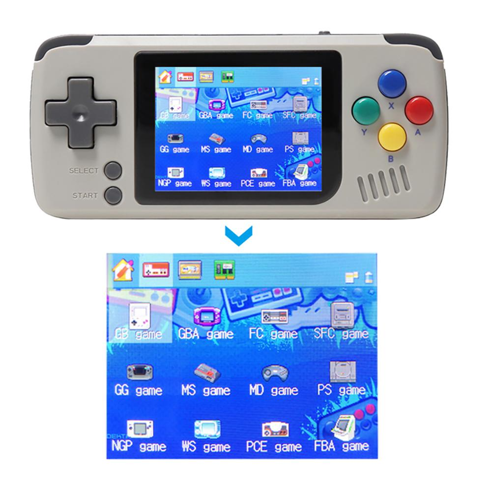 2019 Newest 64 bit Open Source Handheld Game Machine For FC GBA SFC MD PS NGP