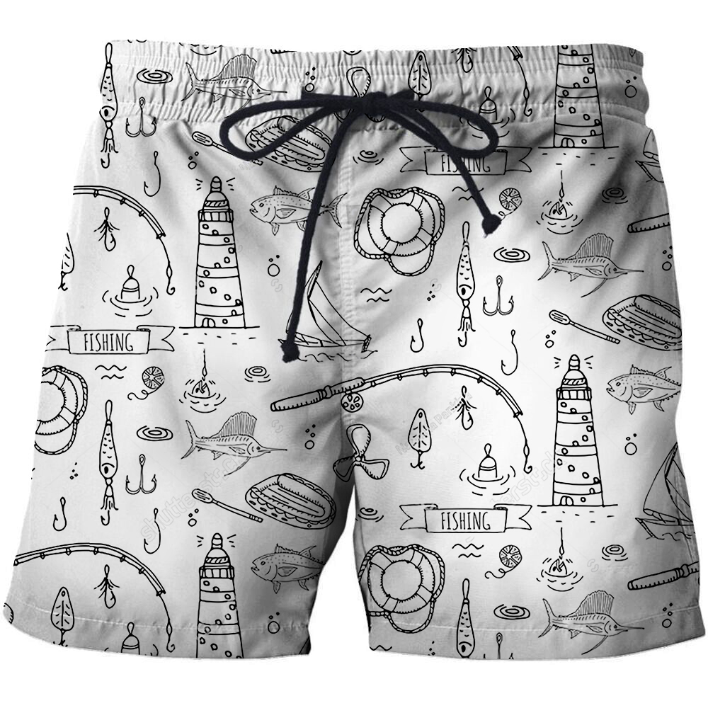 2021 summer new casual swimming shorts men's 3D personalized printed beach pants loose comfortable casual quick-drying pants 3