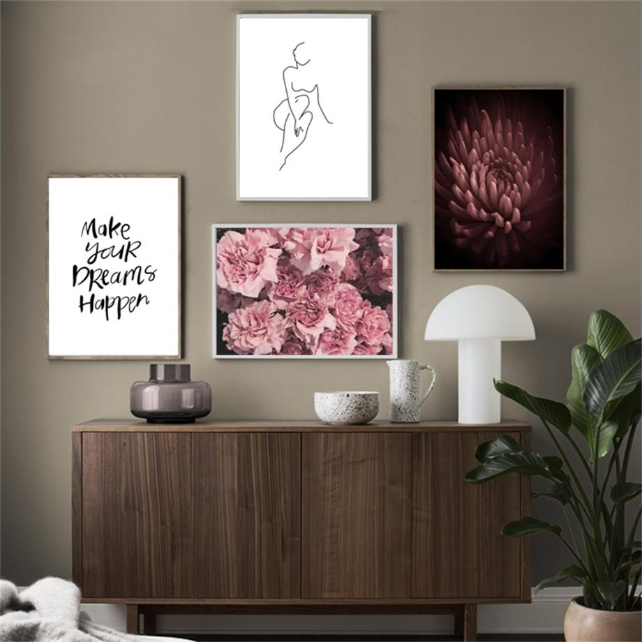 Flower-Abstract-Sexy-Naked-Girl-Quotes-Wall-Art-Canvas-Painting-Nordic-Posters-And-Prints-Wall-Pictures