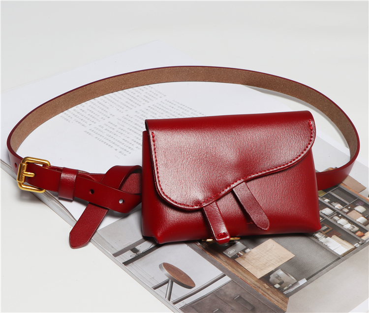 2019 Mini Fanny Packs Women Solid Cow Leather Coin Money Bag BIg Size Genuine Leather Waist Belt Female Detachable Waist Bag New