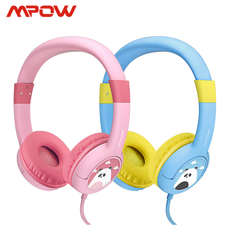 2 Pack Mpow BH181 Wired Headphones Kids Headset Gift For Kids Boys Girls Max 85db Soft Ear pads For iPhone iPod MP3 MP4 laptop|wired headphones|headphones for kids|headphone headphone - title=