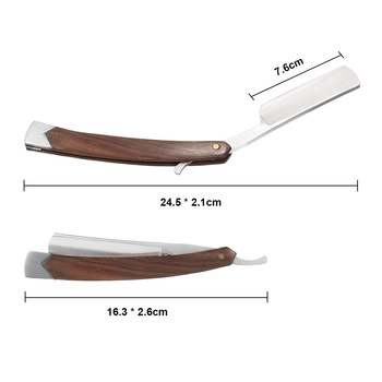 Retro Razors Are Made By Hand Gold Dollar High Carbon Steel Folding S-Afety Straight Barber Razor For Face G0304 4