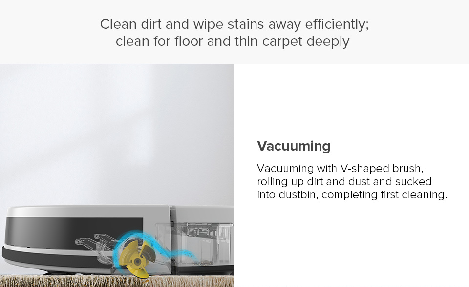 H25130d4bc9bd42d9a040c7afd3675907I ILIFE V7s Plus Robot Vacuum Cleaner Sweep and Wet Mopping Disinfection For Hard Floors&Carpet Run 120mins Automatically Charge