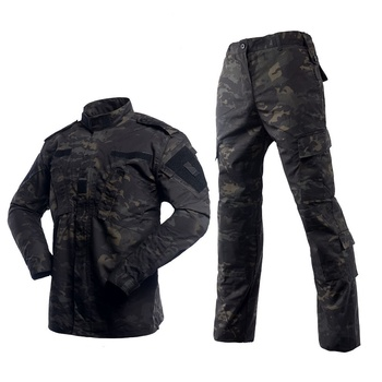 Tactical BDU Multicam Black Camouflage Army Military Uniform Combat Shirt Pants Airsoft Sniper Clothing Camo Hunting Clothes 2