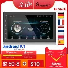 Автомагнитола Podofo, мультимедийный плеер на Android, с 7 дюймовым сенсорным экраном, Bluetooth, FM, Wi Fi, с функцией Mirror Link, типоразмер 2 din