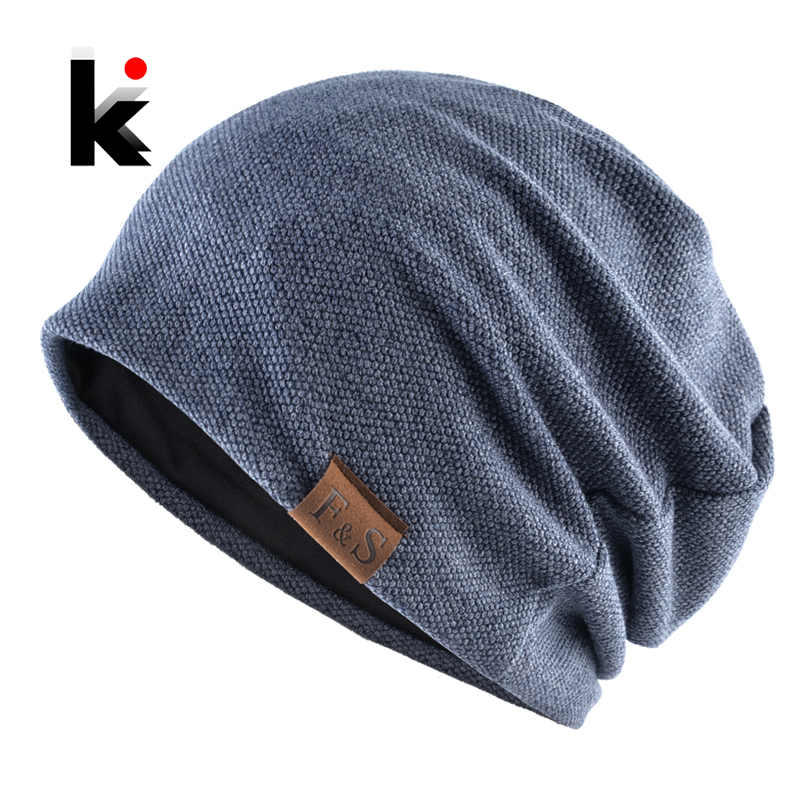 Fashion Bonnet Hat For Men And Women Autumn Knitted Solid Color Skullies Beanies Spring Casual Soft Turban Hats Hip Hop Beanie