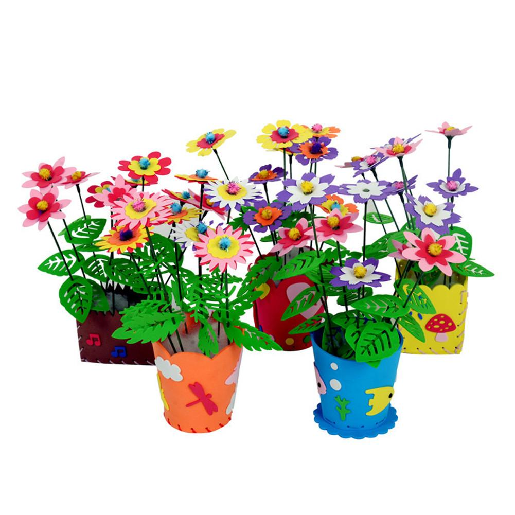 DIY Decorative Flower Basket Potted Material Package Cartoon Pattern EVA Environmental Protection Material Home Decoration