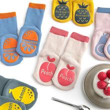 Infant Thick Baby Anti Slip Socks Long Tube Pear Lemon Winter Warm Non-Slip Hoops Toddlers Floor Socks For Boys And Girls cheap CN(Origin)