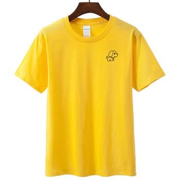 Japanese Kawaii Puppy Cartoon Print Long T-shirt Schoolgirl Spring Tops 2019 Harajuku Cute Loose Cotton Women T shirt Streetwear
