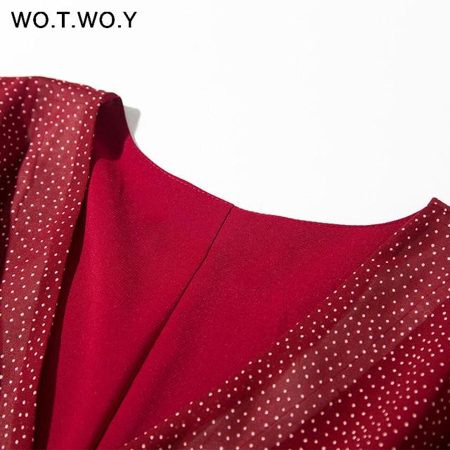 soft fashion dress, belted v-neck 4
