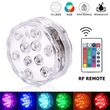Submersible-Light Outdoor-Vase Multicolor Night-Lamp Waterproof LED 10 Party-Decor Garden-Pool-Bar