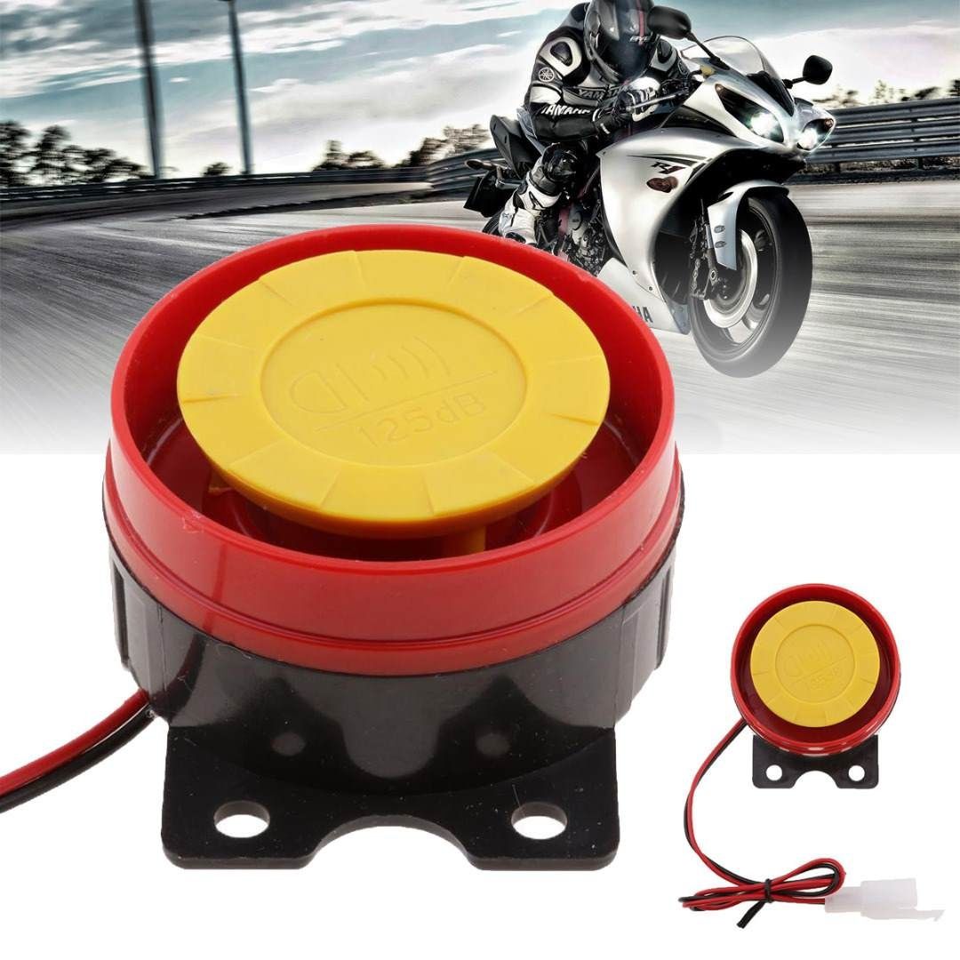 12V Loud Air Horn Car Siren Speaker For Truck Motorcycle ATV Raid Siren Small Electric Horn Alarm Red