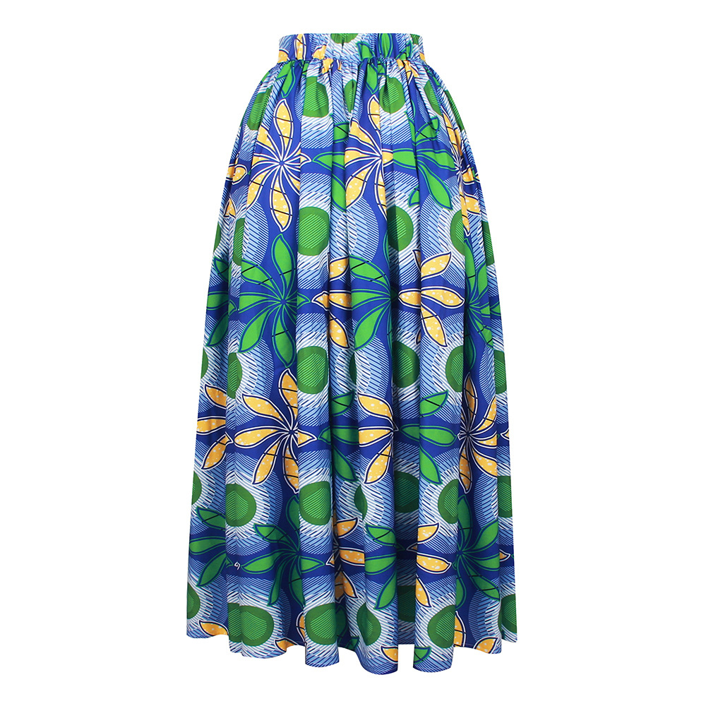 African Print 2020 News Dashiki Bazin Wax Robe Skirts African Dresses For Women Sexy Skirts Elastic Waist Traditional Clothing