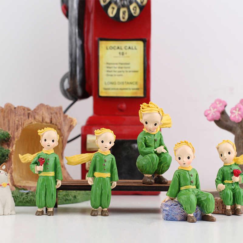 Nordic Piccolo Principe Figurine In Miniatura Decorazione del Giardino Della Resina Ragazzo Modello di Decorazione Della Casa Accessori Della Torta Decorazione Scrivania