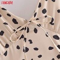 Tangada Women's Party Dress Leopard Midi Dress Strap Adjust Sleeveless 2021 Korean Fashion Lady Elegant Dresses QN40 4