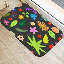 Color Oil Painting Flower Non slip Bedroom Decorative Carpet Kitchen Floor Living Room Floor Mat Bathroom Non slip Mat 40x60cm .