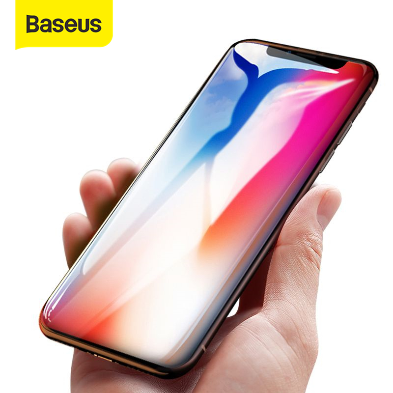 Baseus 0.15mm Screen Protector For IPhone X Tempered Glass Ultra Thin 9H Scratch Proof Protective Glass For IPhone X Front Film