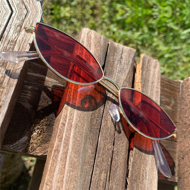 KUJUNY Women Cat Eye Sunglasses Cute Sexy Brand Designer Glasses Summer Retro Small Frame Black Red Cateye Sun Glasses 4