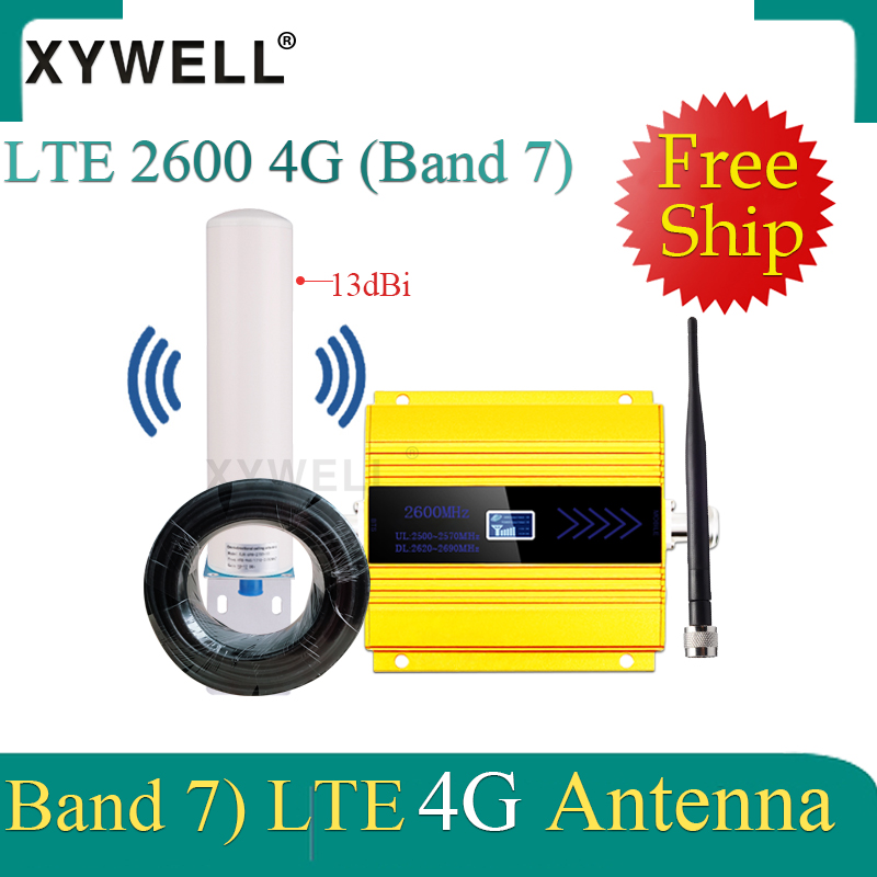 Repeater 4G Signal Booster FDD LTE 2600mhz Band 7 GSM Mobile Signal Booster LTE 2600 4G Network Cellular Signal Amplifier