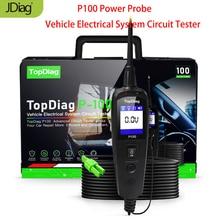 Original jdiag p100 power probe circuit tester ferramenta de diagnóstico do sistema elétrico powerscan pt 100 pk vsp200