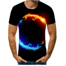 Praise and hot sale Flame Dragon 3D printed men's and women's T-shirt milk silk soft loose T-shirt sweatshirt made in China