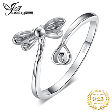 JewelryPalace Dragonfly Cubic Zirconia Rings 925 Sterling Silver for Women Stackable Ring Jewelry Fine