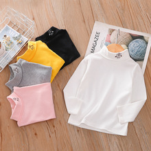 T-Shirt Turtleneck Long-Sleeved Clothing Toddler Girls Baby Boys Kids Children's And