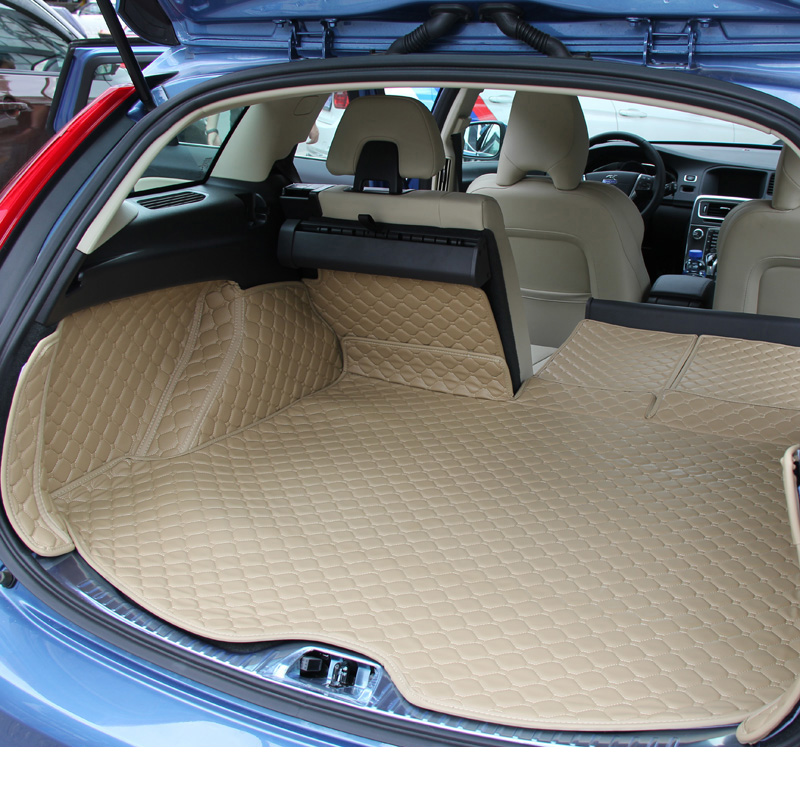 Lsrtw2017 For Volvo V60 Leather Car Trunk Mat 2009 2011 2012 2013 2014 2015 2016 2017 2018 2019 2020 Cargo Liner Accessories