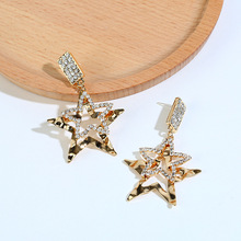 Fashion Drop Earrings Big Star Statement Earrings For Women Drop Earrings Gift For Women Party Wedding Jewelry Earrings 2020 new fashion bandage jacket women long sleeve outerwear coats button zipper black celebrity party short jacket women