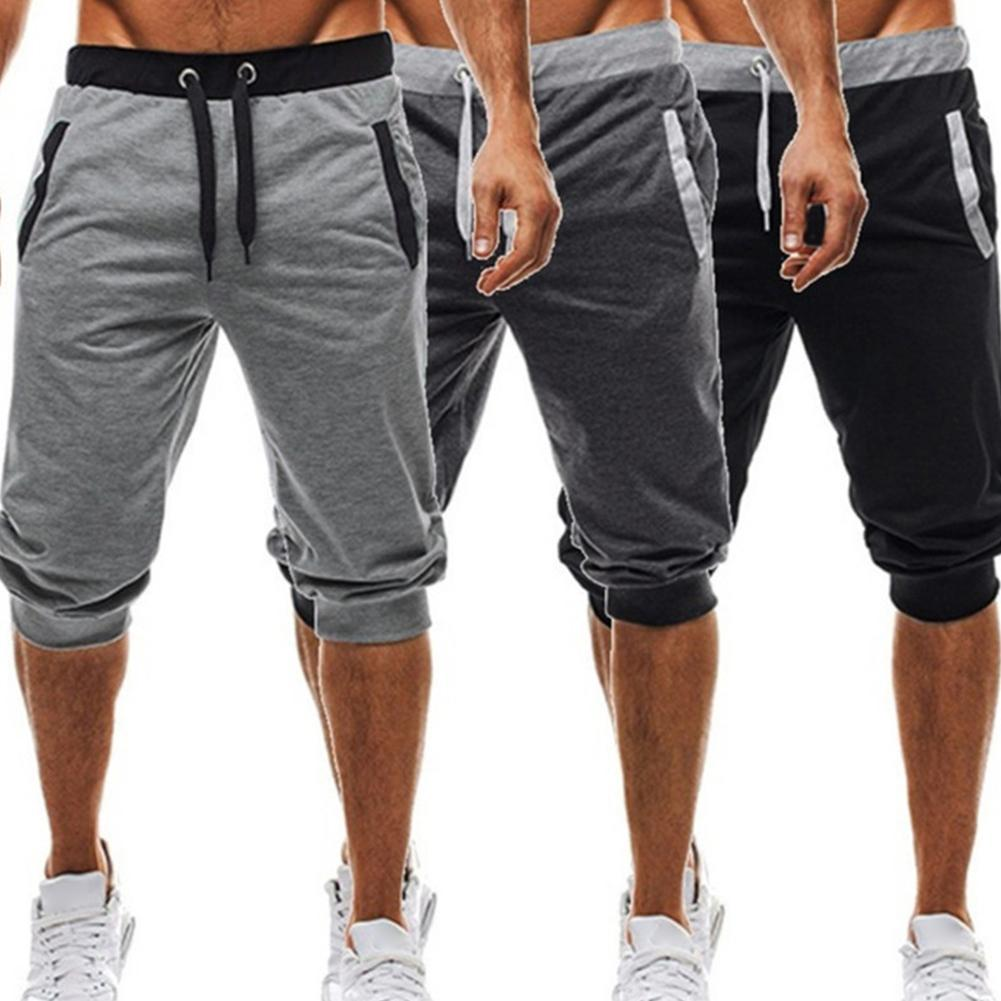 Men Summer Harem Pants Slacks Shorts Sport Sweatpants Drawstring Jogger Trousers Harem Pants Slacks Shorts Sweatpants Trousers