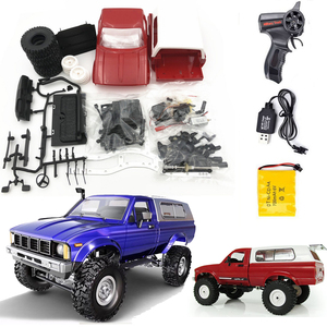 Hot WPL C24 2.4G Remote Control Off-road Model Car RC Buggy DIY High Speed Crawler Truck Toys Upgrade 4WD Metal KIT Part Chasis(China)