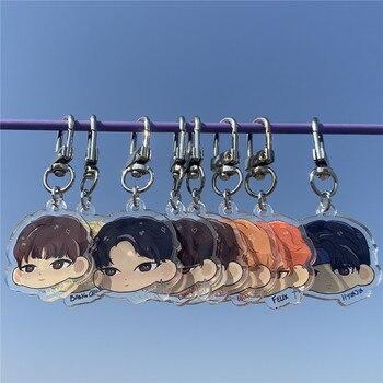 Stray Kids Cartoon Acrylic Key Chain Cute Stray kids Pendant